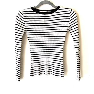 3/$20 Philosophy ribbed striped long sleeve top